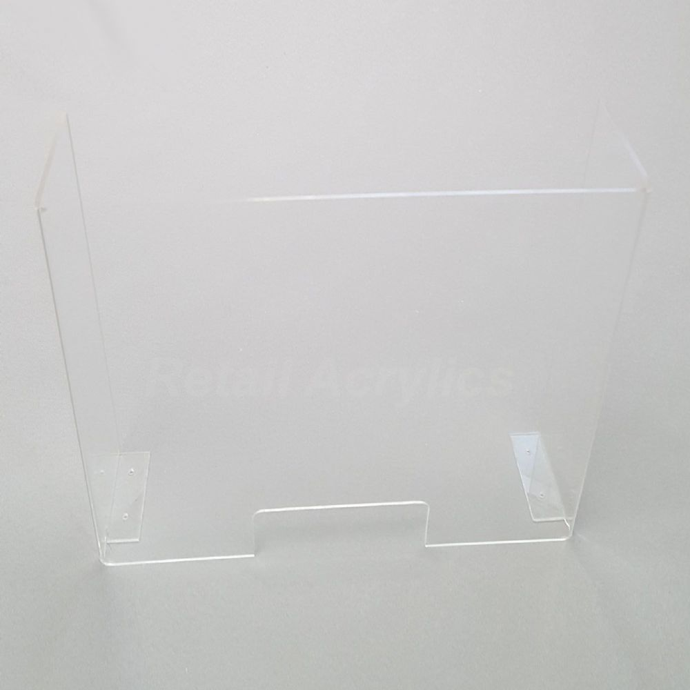 Sneeze Guard Screen - Clear Acrylic -50cm wide